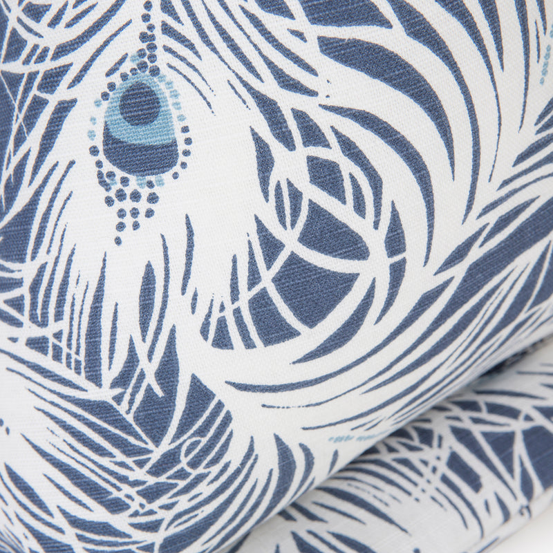Close up of the Peacock print