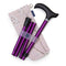 Adjustable Folding Walking Stick in Purple & Stylish Fabric Storage Bag in Cherry Blossoms