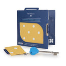 Disabled Blue Badge Wallet, Keyring and RADAR key in Canary Yellow Spotty with blue badge company recyclable packaging
