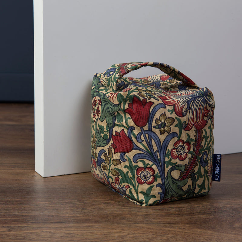 Fabric Door Stop in William Morris Golden Lily