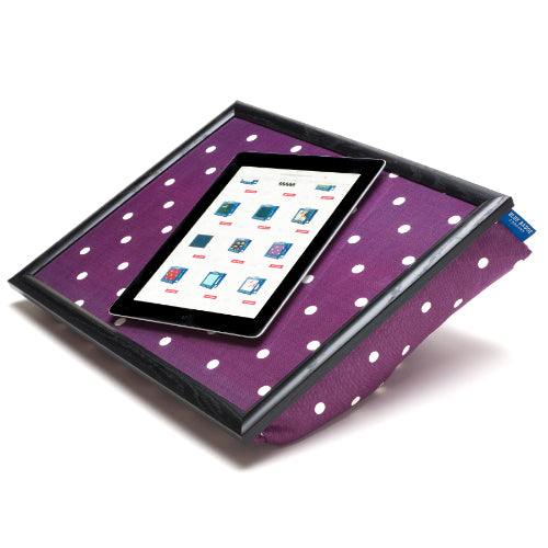 Bean Bag Lap Tray in Purple Spotty