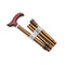 Adjustable Folding Walking Stick Cane in Bronze