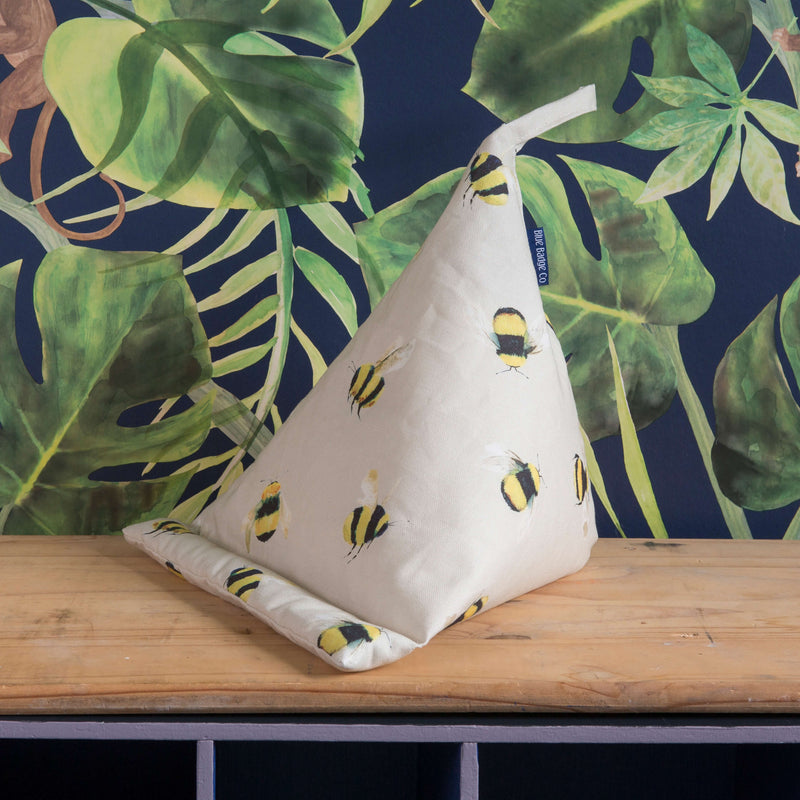 Bean Bag Tablet Cushion in Busy Bees, lightweight versatile design