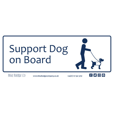 Disabled Car Sticker Rectangle  - Support Dog on Board