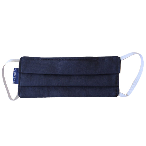Navy Face Mask, 100% cotton Double Ply Face Mask