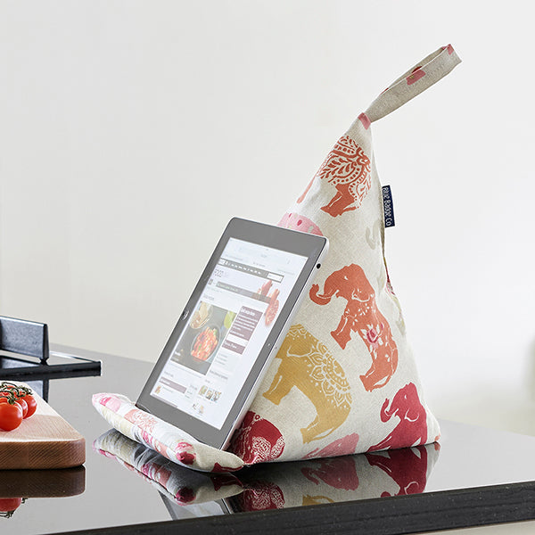 Tablet Cushion in Nelly Elephant