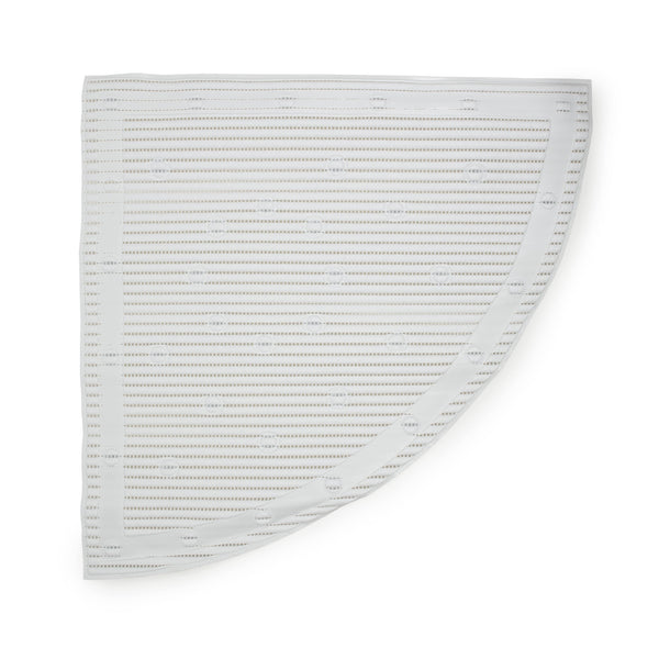 anti-slip corner shower mat in white