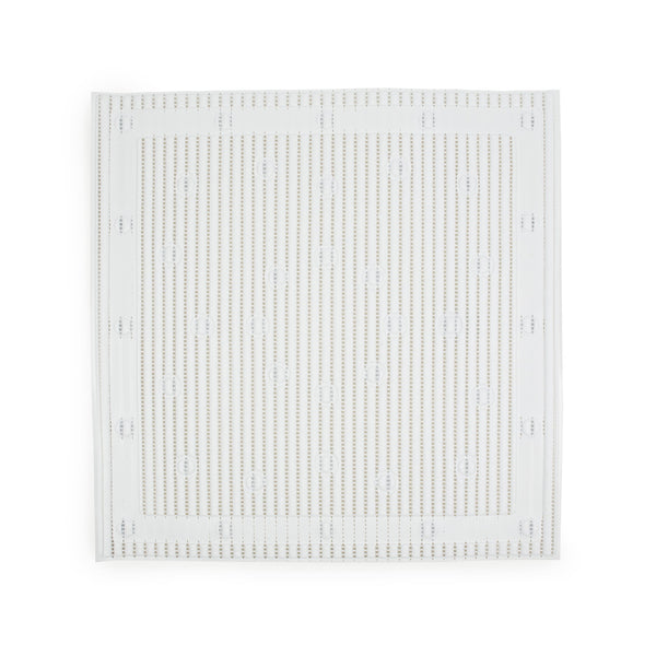 anti-slip square shower mat in white