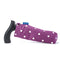 Adjustable Folding Walking Stick in Purple & Fabric Storage Bag in Purple Spotty