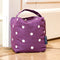 Fabric Door Stop in Purple Spotty