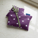 Lavender Wheat Warmer, Heated Wheat Bag in Purple Spotty