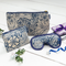 Toiletry Bags & Eye Mask Bathroom Gift Set in William Morris Marigold Indigo