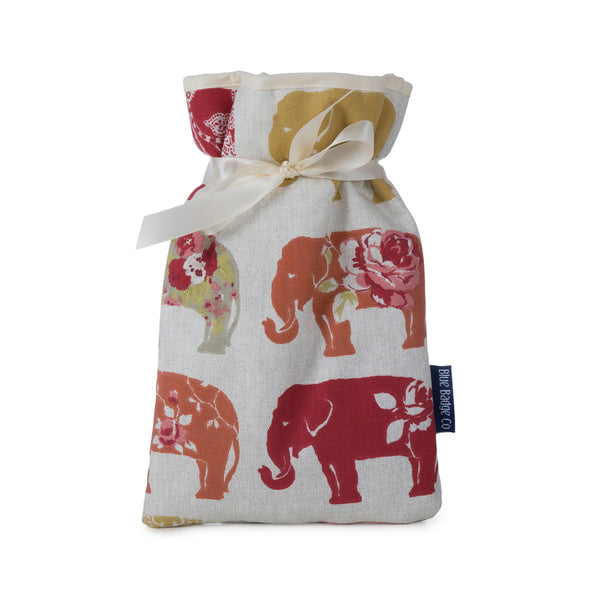 Mini Hot Water Bottle in Nelly Elephant