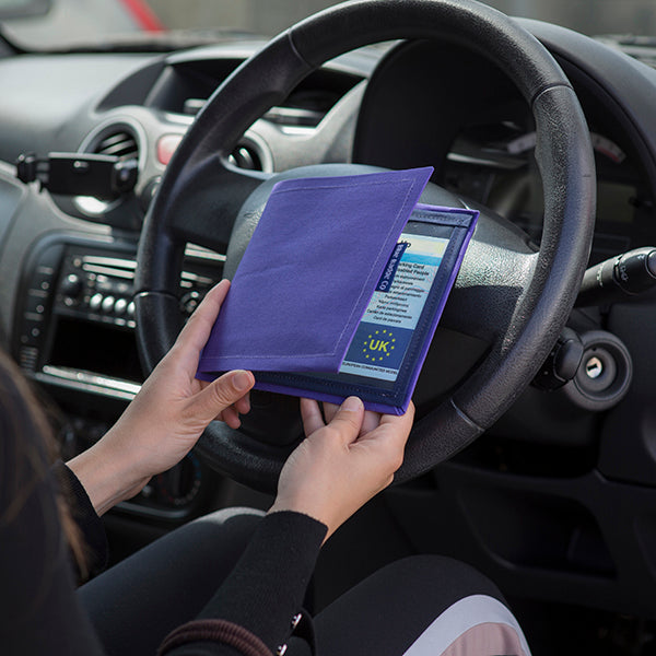 Disabled Blue Badge Wallet in Purple Drill