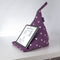 Tablet Cushion in Purple Spotty