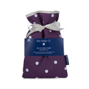Mini Hot Water Bottle in Purple Spotty