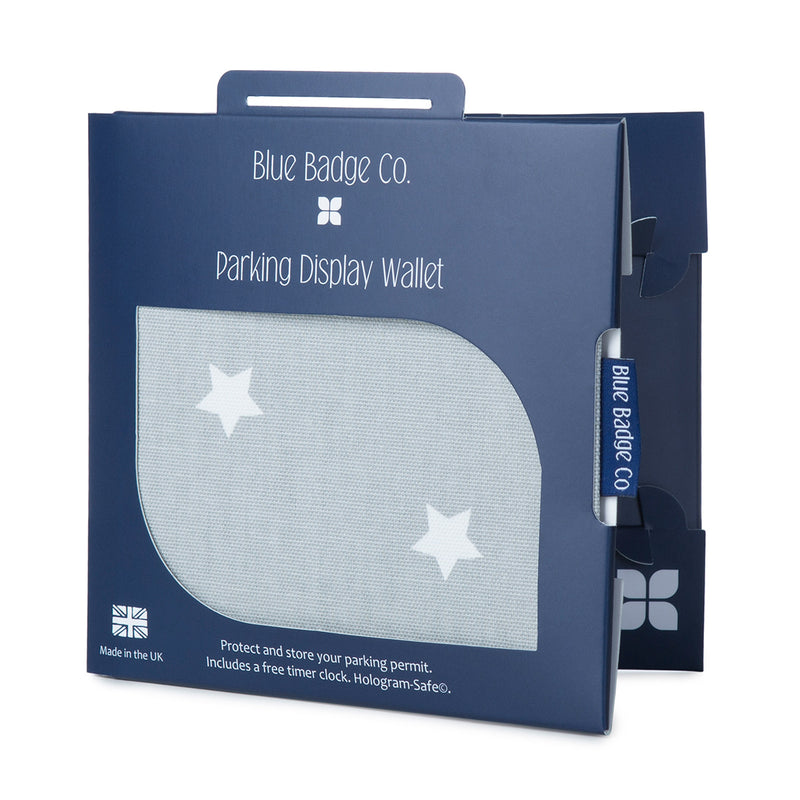 Disabled Blue Badge Wallet in Grey Star