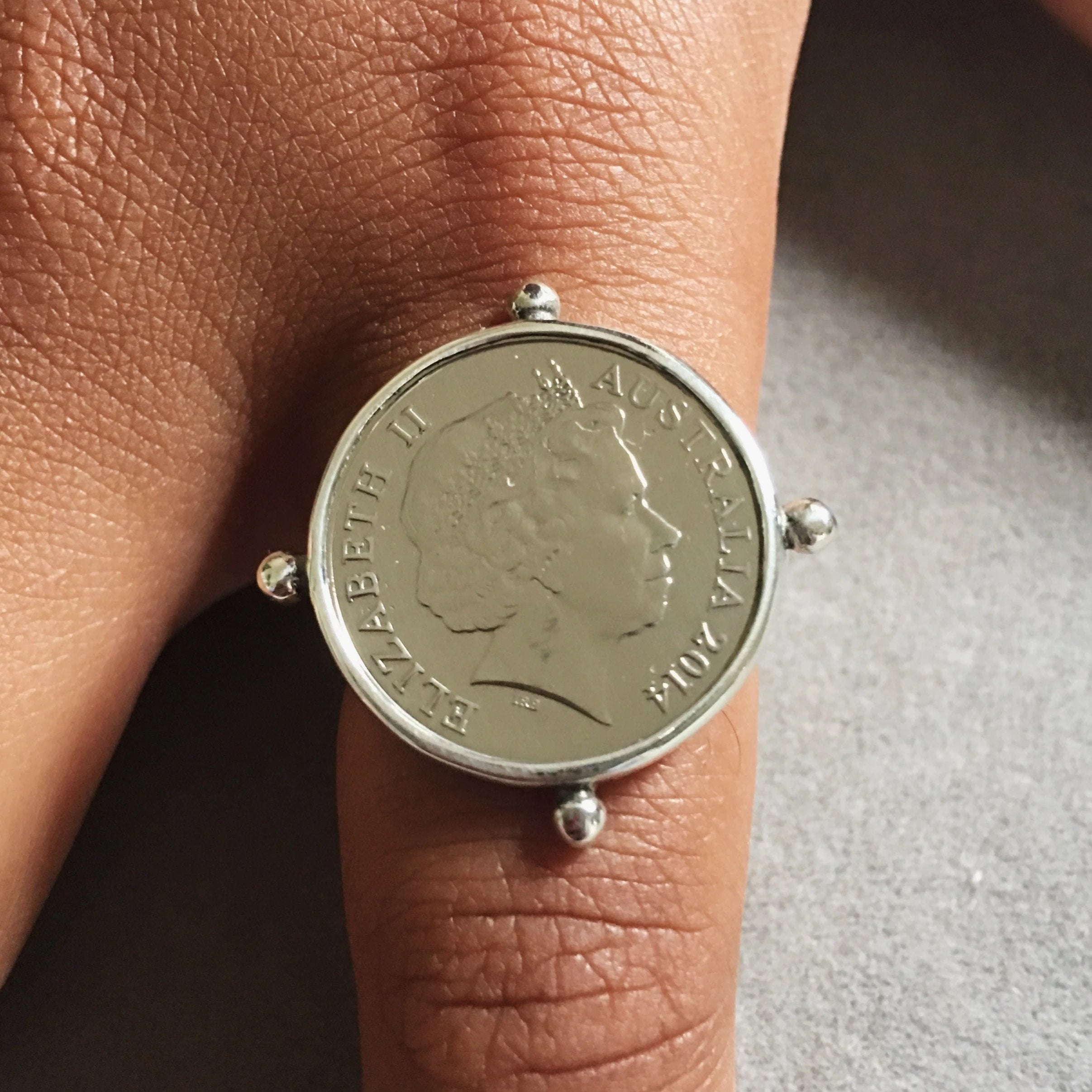 Small Silver Coin Ring