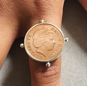 Rose Gold Penny Coin Ring