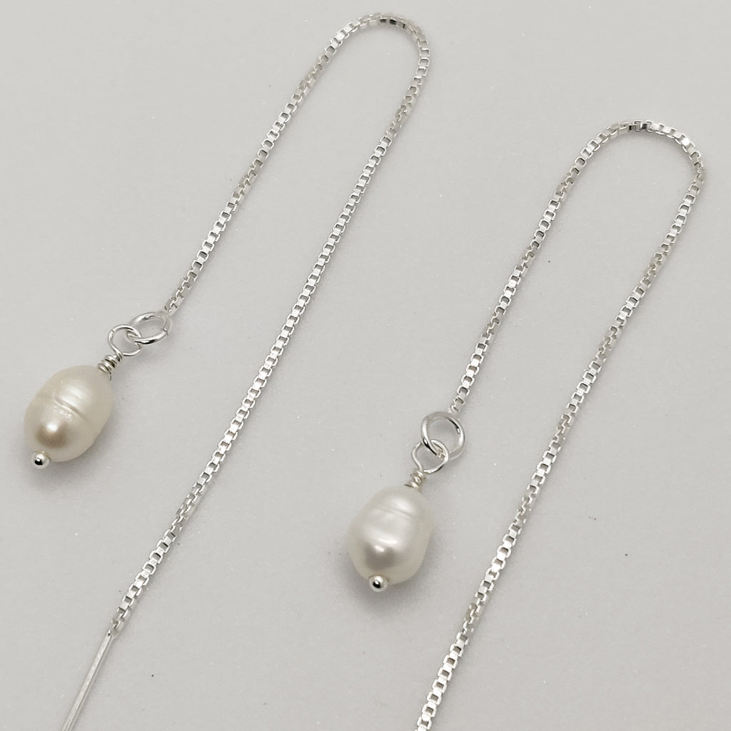 Classic Pearl Threader Earrings