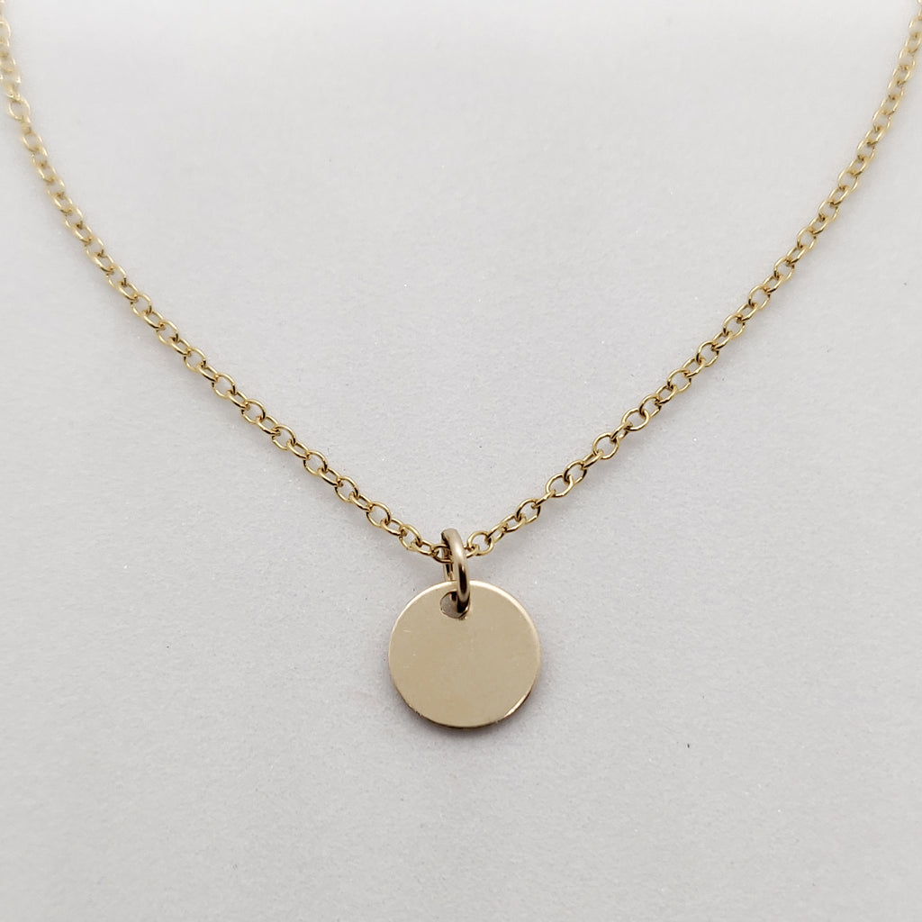 Gold Personalised Pendant Necklace