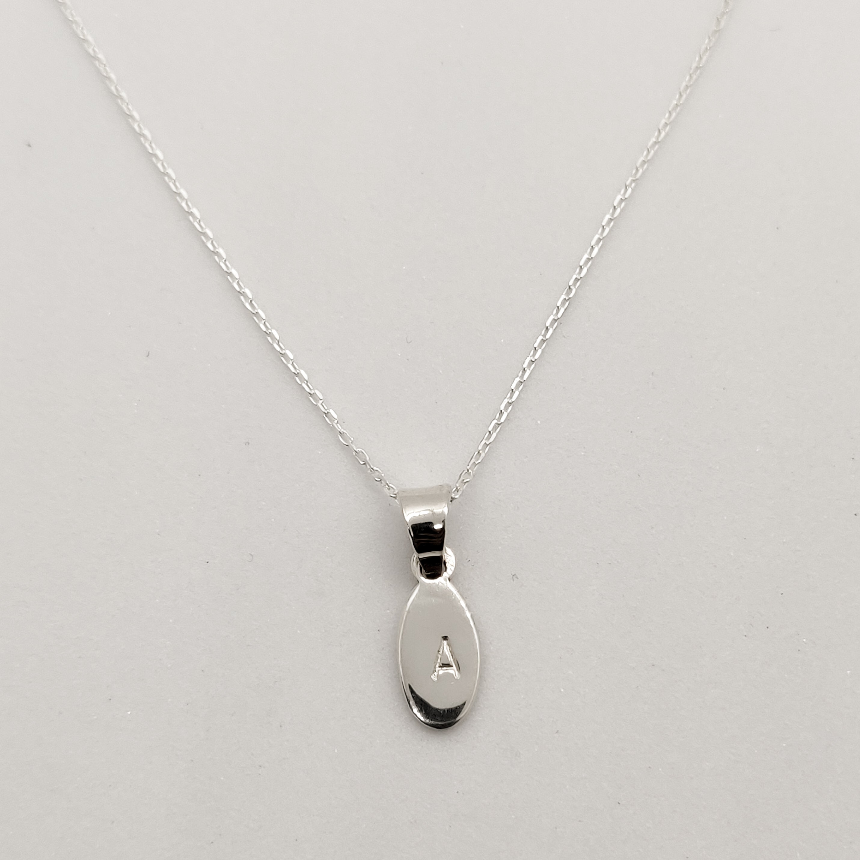 Personalised Silver Drop Pendant Necklace