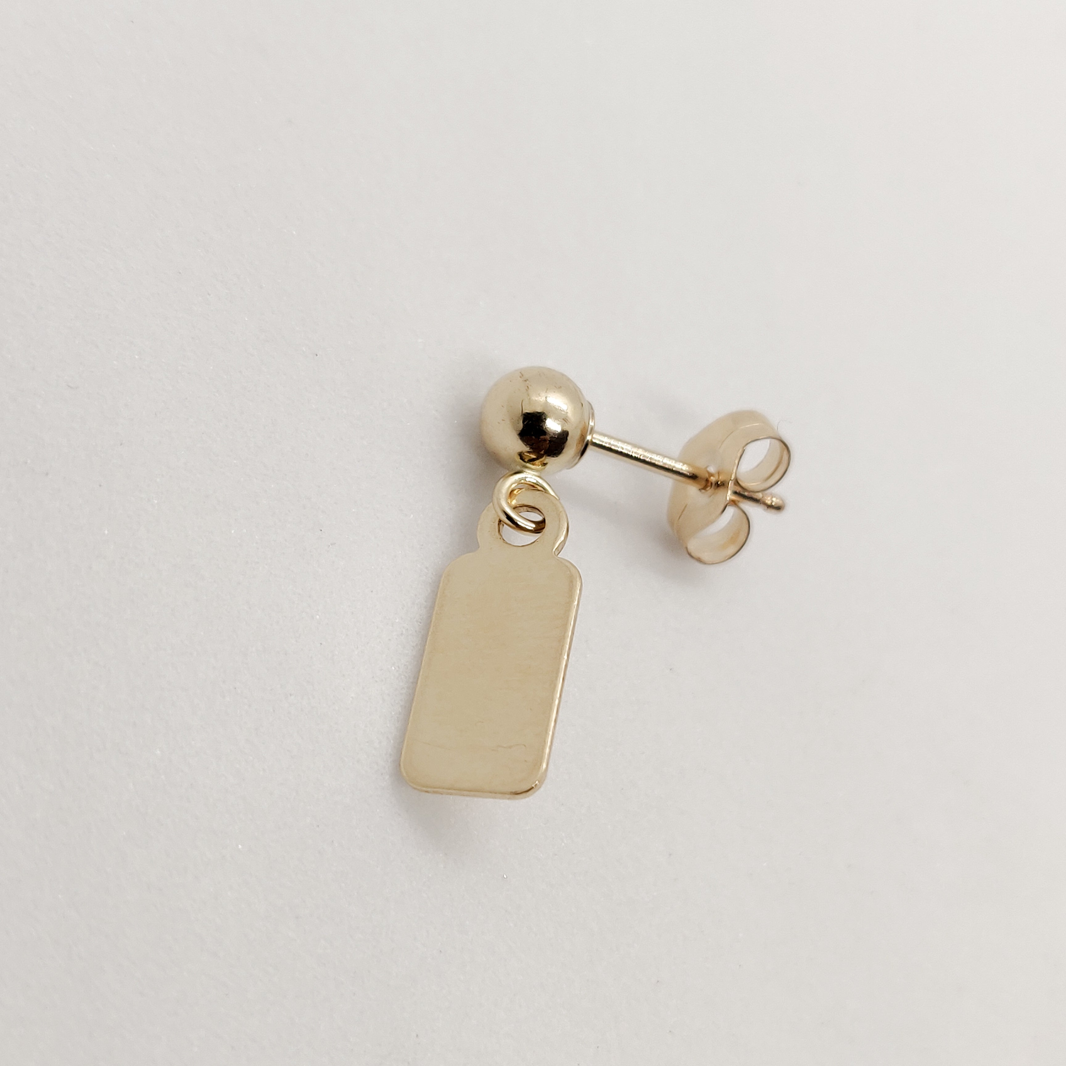 Personalised Aria Gold Stud
