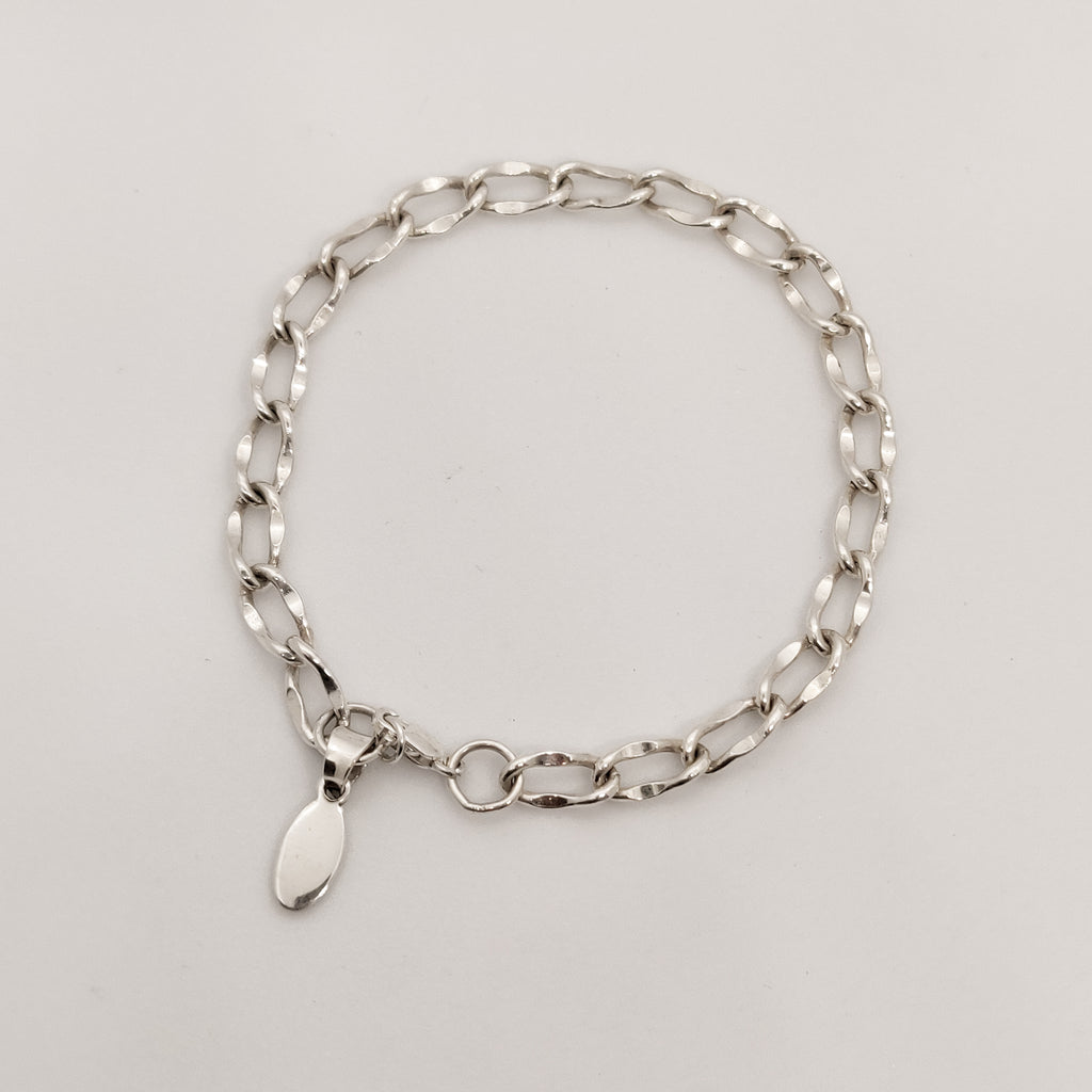 Classic Silver Personalised Bracelet