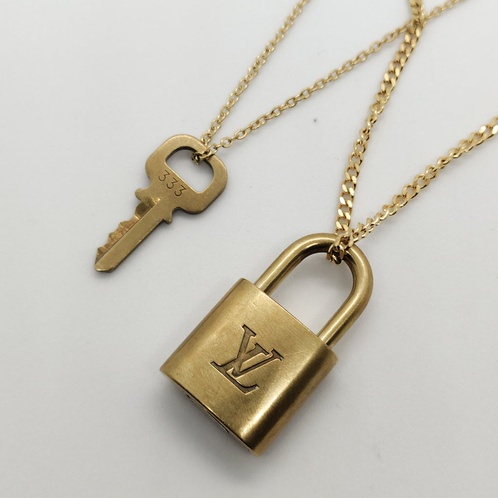 Vintage Louis Vuitton Padlock Necklace Set