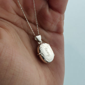 Signature Personalised Locket Necklace