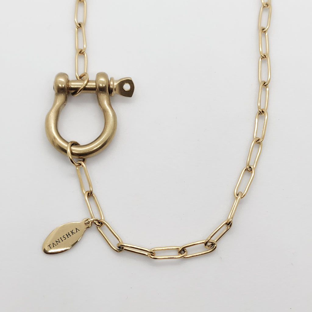 Rhea Shackle Paperclip Necklace