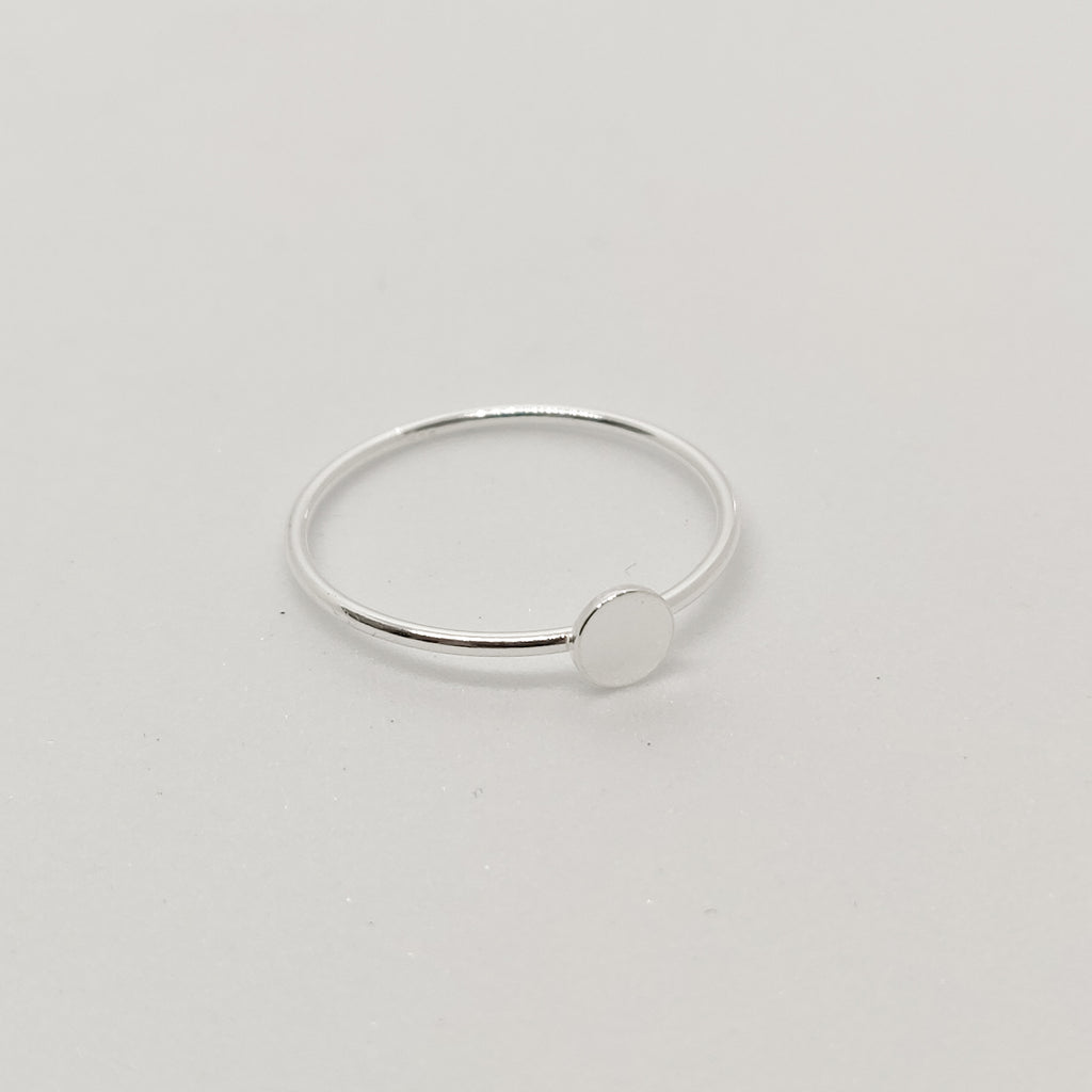 Basic Dot Silver Ring