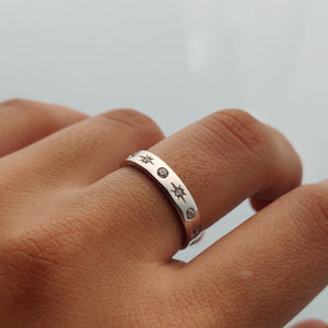 Jia Starburst Band Ring