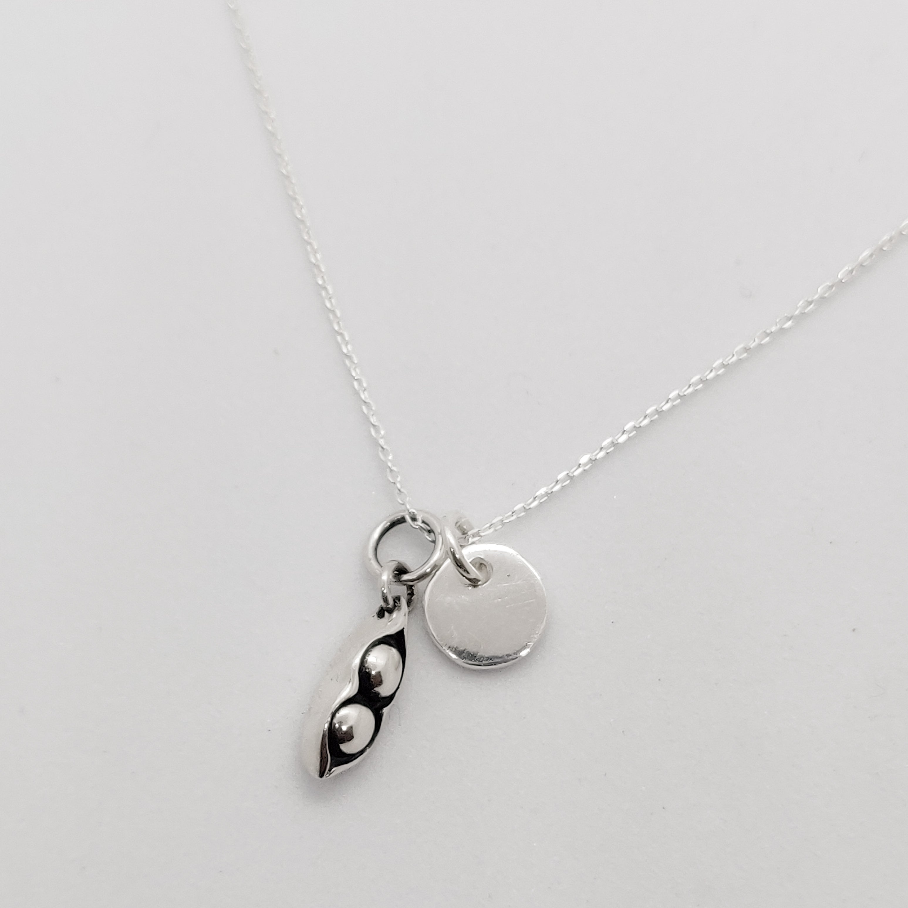 Personalised Pea Pod Necklace
