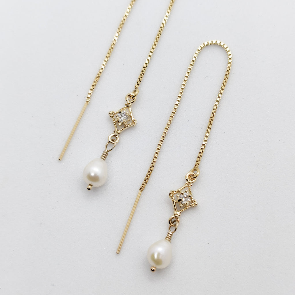 Helena Stardust Gold Threader Earrings