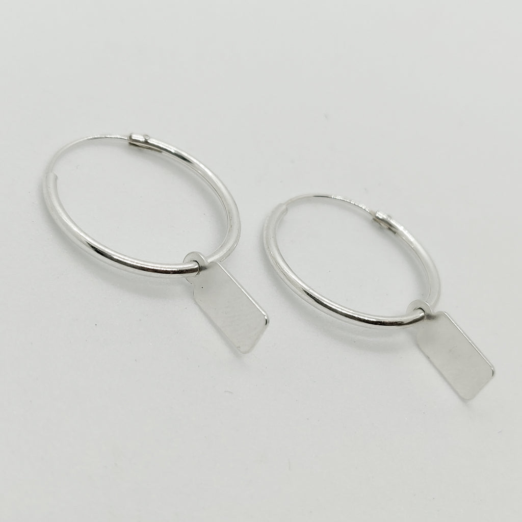 Personalised Silver Amara Hoop Earrings