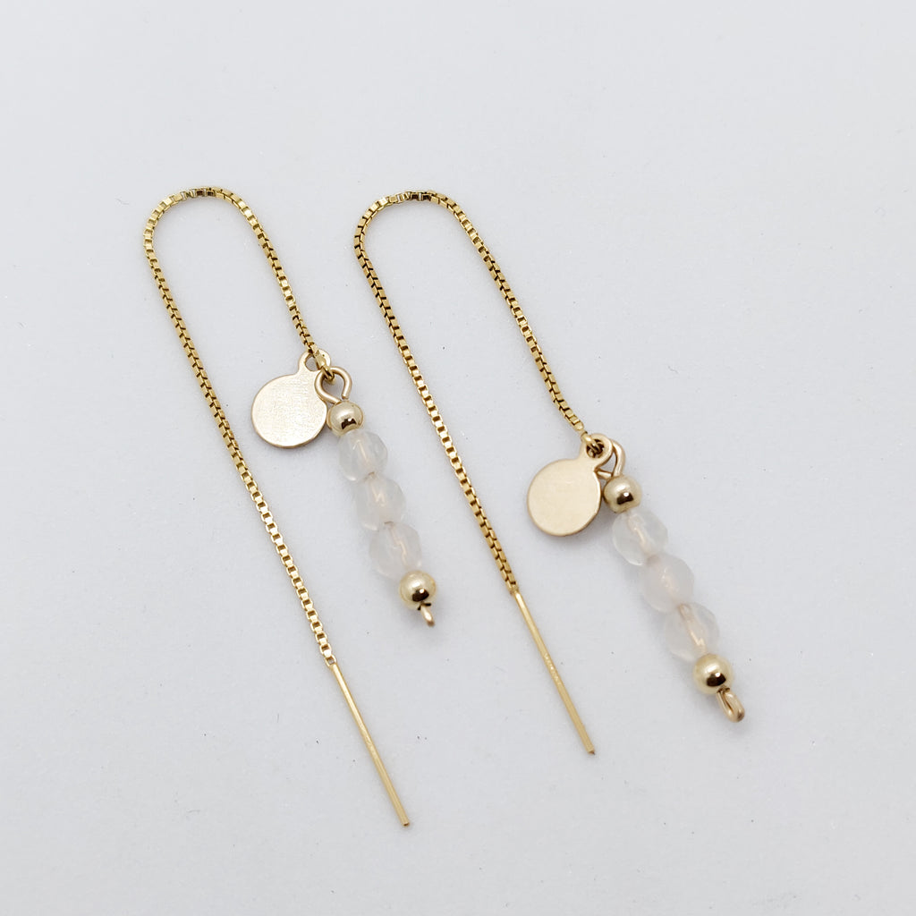 Gold Athena Personalised Threader Earring