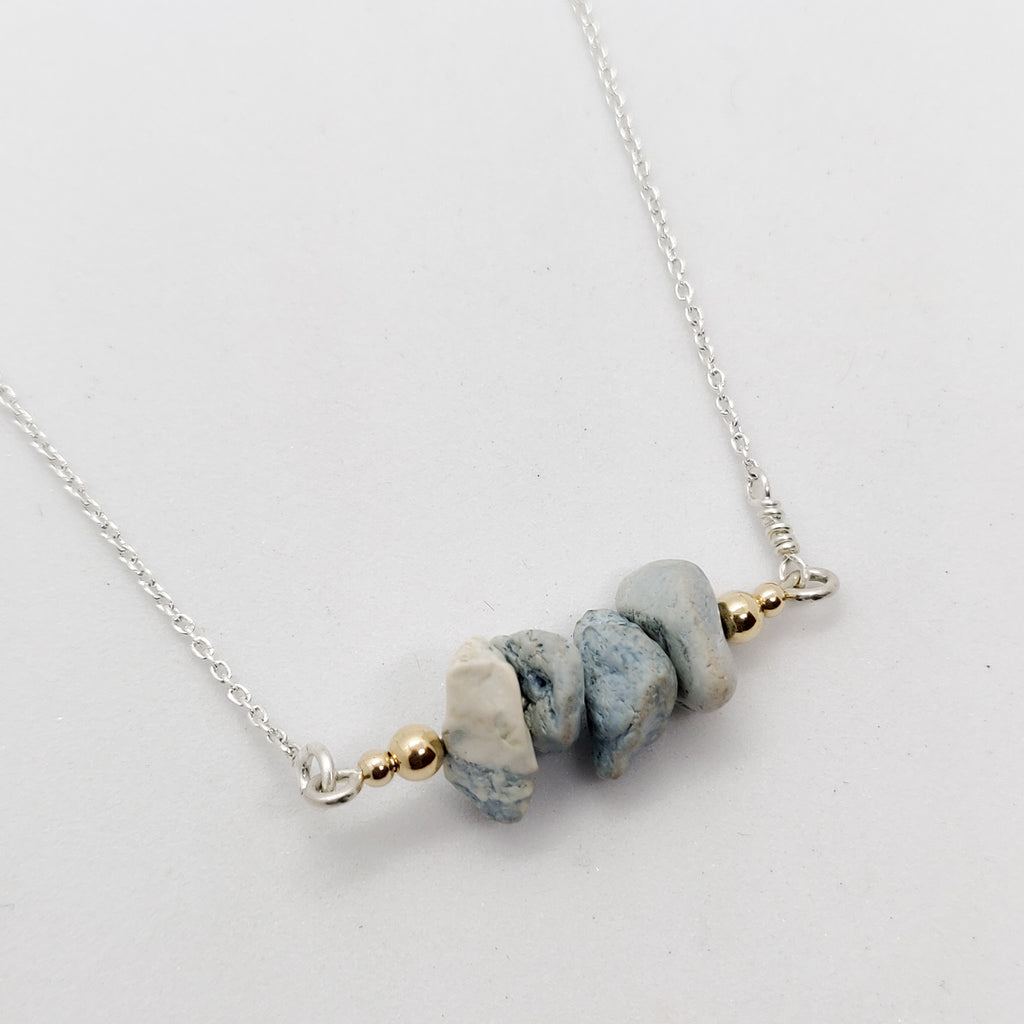 Raw Turquoise Bar Necklace