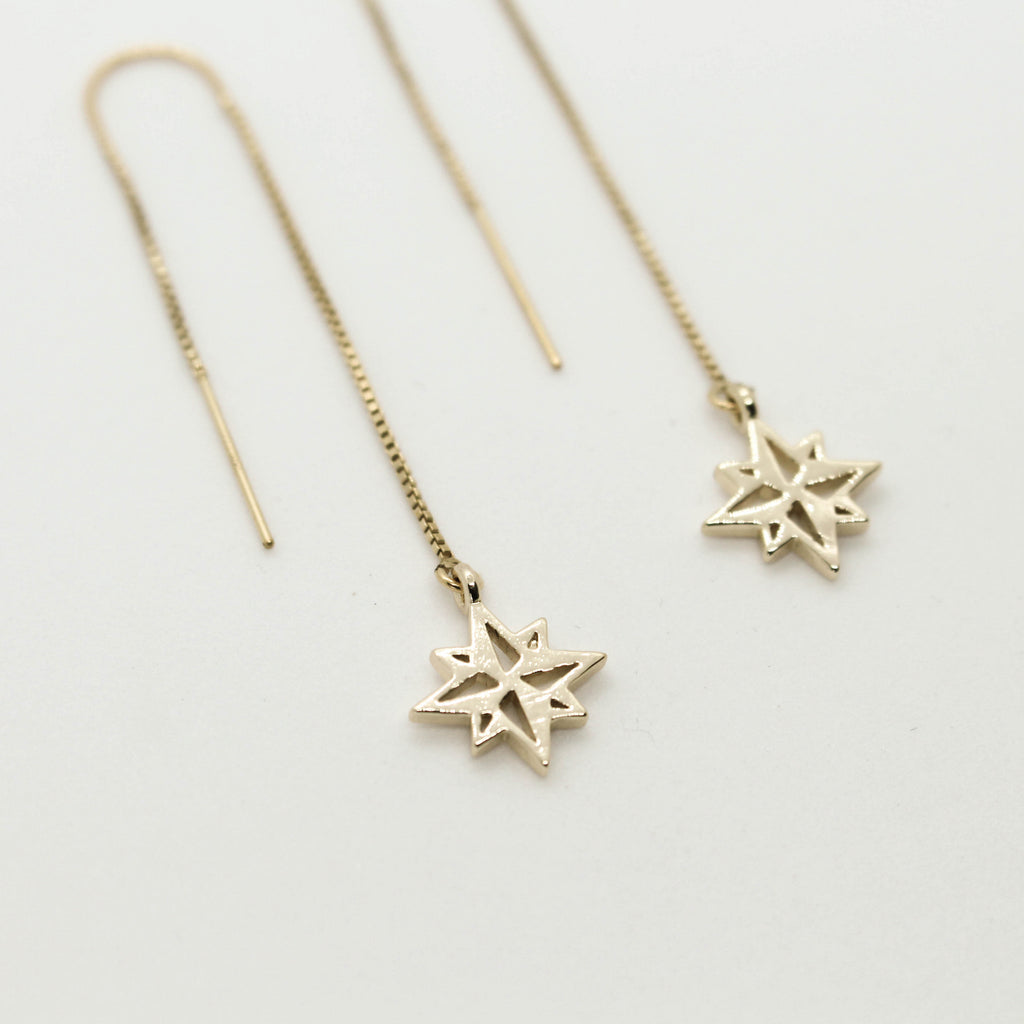 North Star Threader Earrings