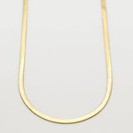 Signature Gold Flat Snake Chain Necklace