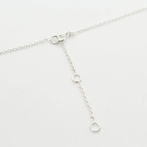 Dew Droplets Silver Necklace