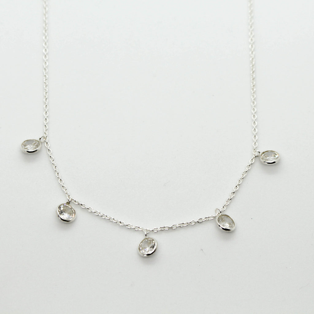 Classic Silver Droplets Necklace