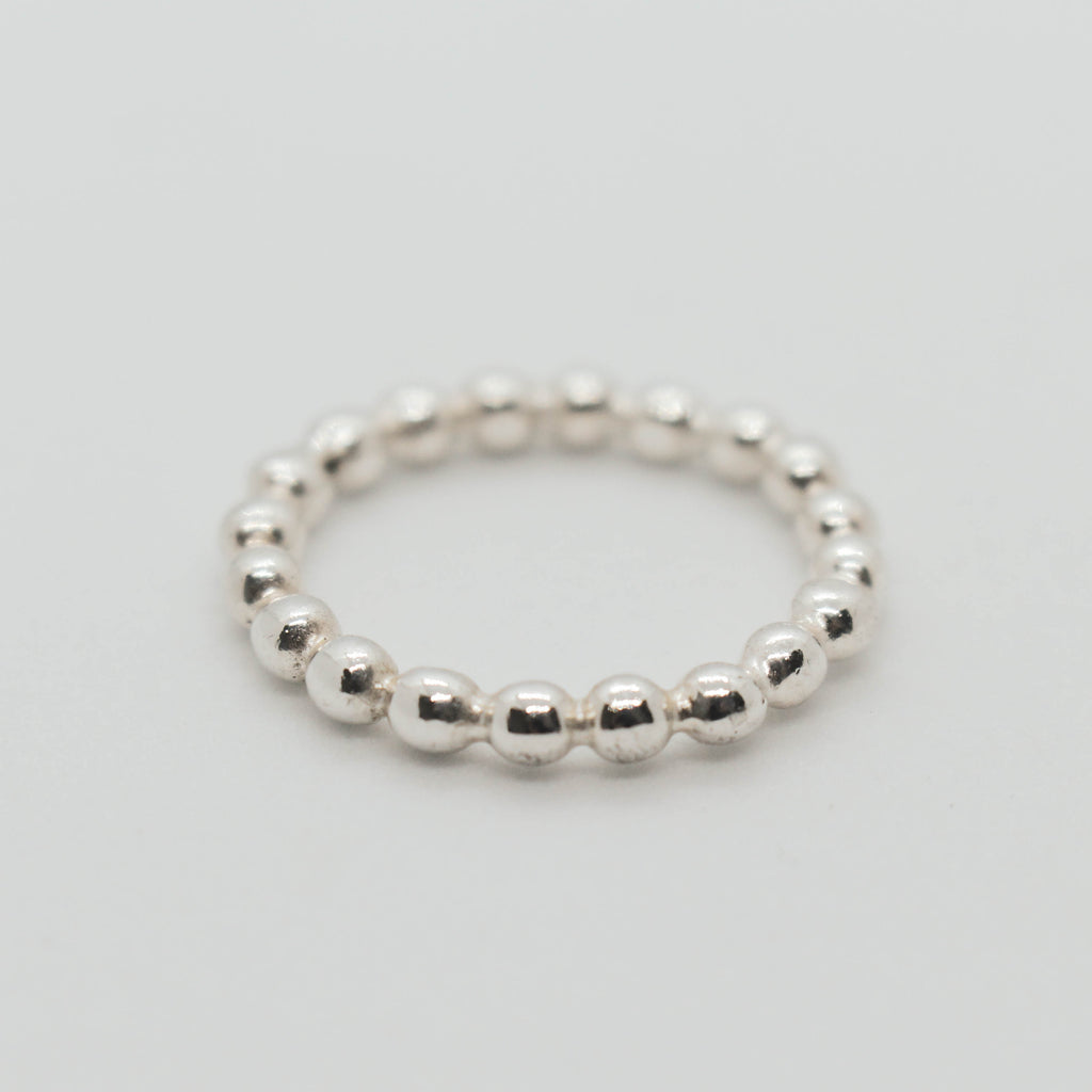 Bubble Stacker Silver Ring
