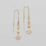 Diamond Stardust Gold Threader Earrings