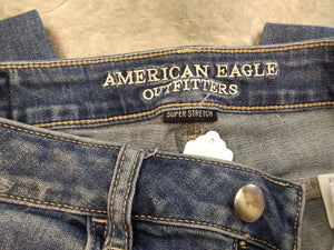 American Eagle Women's 6  Jegging Jeans super stretch high rise distressed