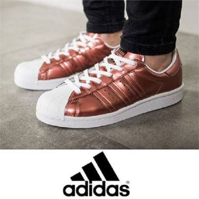 Adidas Women's SUPERSTAR BOOST Copper Metallic & White SZ 6 New with box BB270
