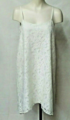 BCBGeneration Womens' M Dress lace overlay cream V back sleeveless