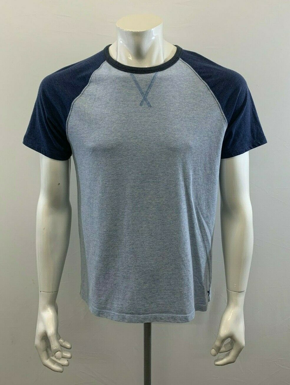 American Eagle Blue Cotton/Poly Blend Mens Medium Short Sleeve Crew Neck T Shirt