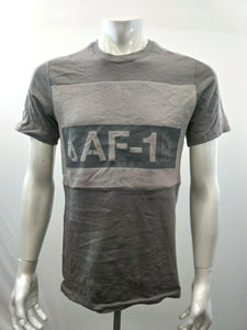 Nike Air Force 1 Two Tone Gray Men's Athletic Cut Cotton T Shirt