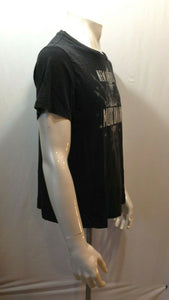 American Eagle Vintage Fit Men's Black Cotton Music Union T Shirt Size Medium